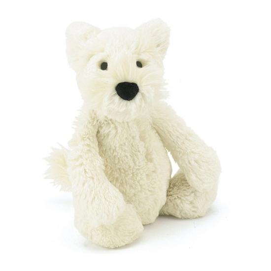 Knuffel hond witte Terrier 18 cm