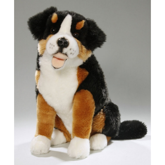 Knuffel hondje Berner Sennen 37 cm