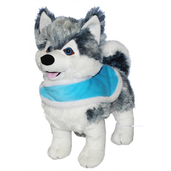 Knuffel hondje husky 33 cm