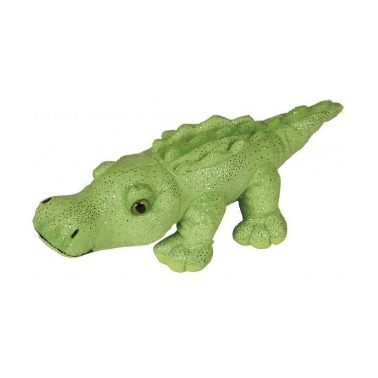 Knuffel krokodil met glitters 30 cm
