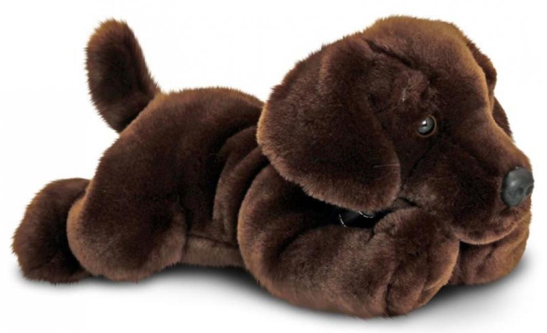 Knuffel labrador bruin 35 cm