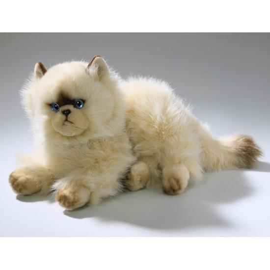 Knuffel liggende persische kat 30 cm