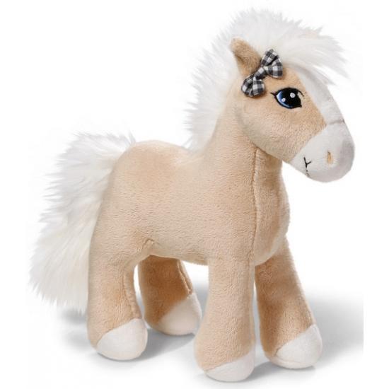Knuffel paardje met strikje 25 cm