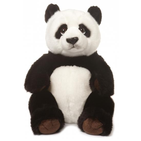 Knuffel pandaberen 30 cm zittend
