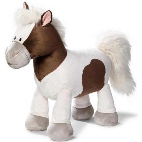 Knuffel pony met harde vulling 80 cm
