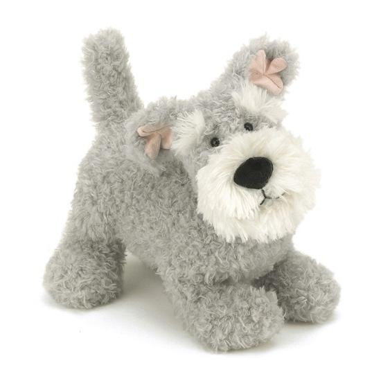 Knuffel Schnauzer hond 23 cm