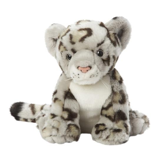 Knuffel sneeuw luipaard 22 cm