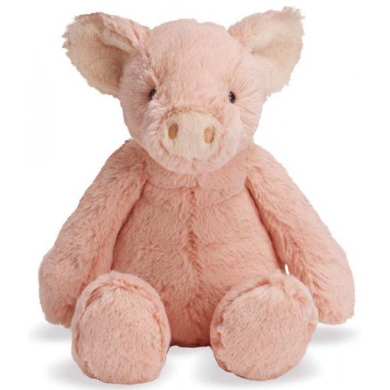 Knuffel varken roze 19 cm