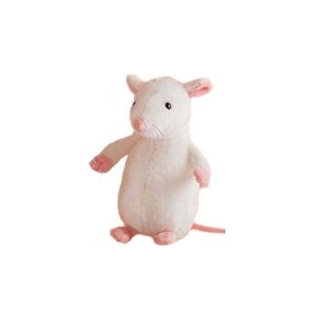 Knuffel witte muis 20 cm