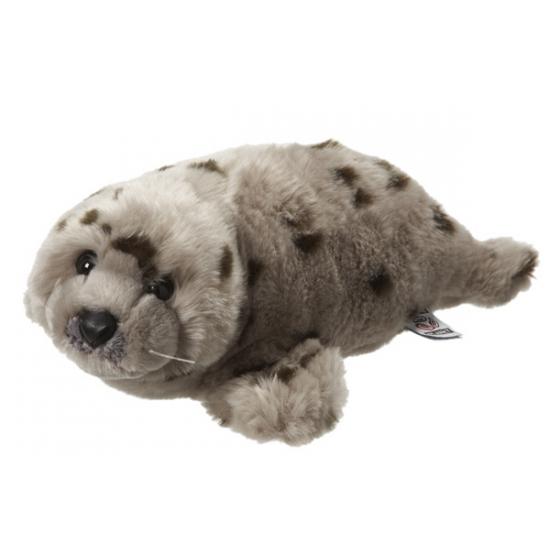 Knuffel zeehonden gestippeld 40 cm