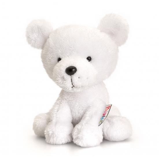Knuffelbeest ijsbeer 14 cm