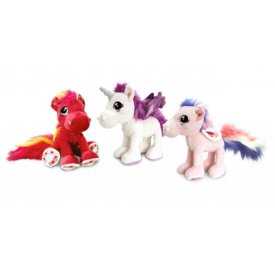 Knuffeldier paard rood 30 cm
