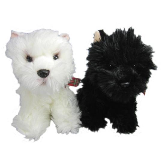 Knuffeldier zwarte Terrier 25 cm