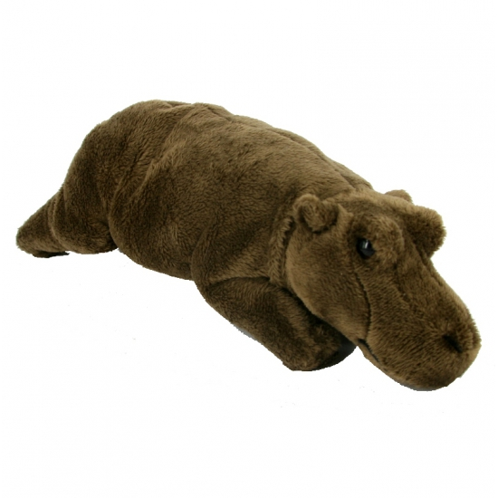 Knuffeldieren bruine nijlpaard 25 cm