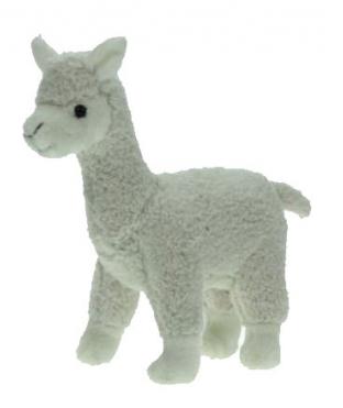 Knuffeldieren lama wit 23 cm