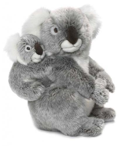 Koala knuffel met baby op zijn rug