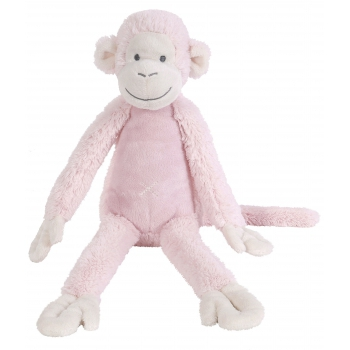 Licht roze knuffel aap 33 cm