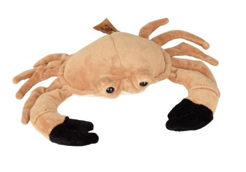 Lichtbruine krab knuffel 23 cm