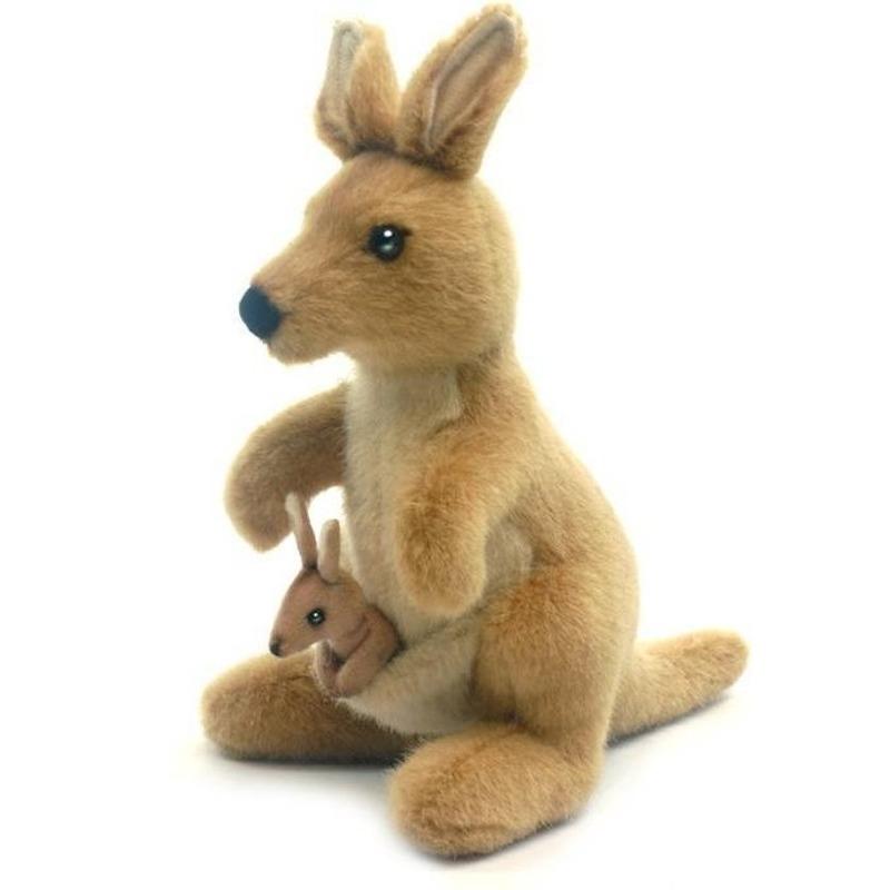 Luxe knuffel kangoeroe 20 cm