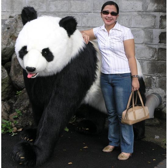 Luxe kwaliteit pandabeer van pluche 192 cm