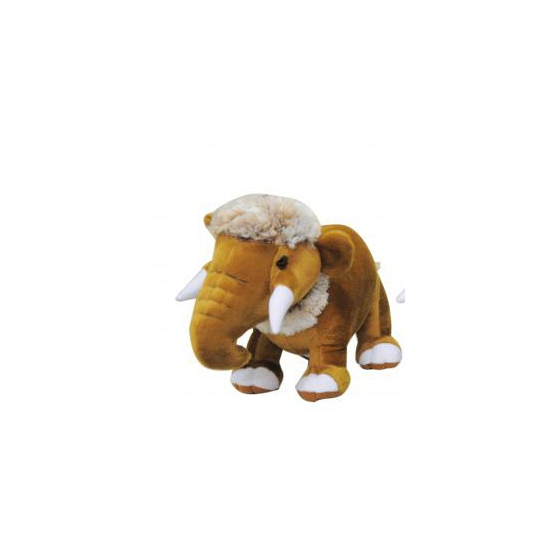 Mammoet knuffel 35 cm bruin