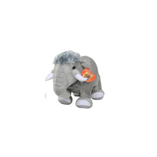 Mammoet knuffel 35 cm grijs