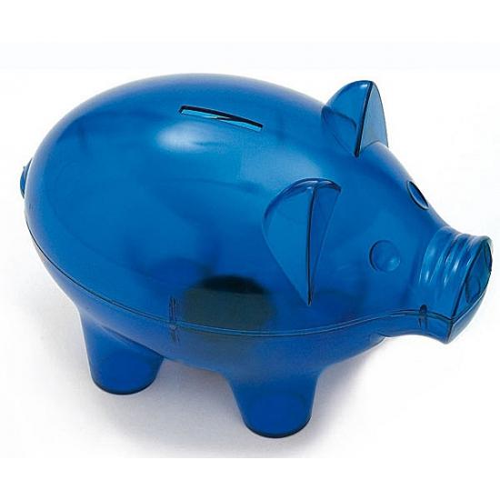 Mega spaarvarken blauw