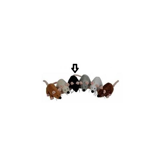 Muis knuffel van 13 cm zwart
