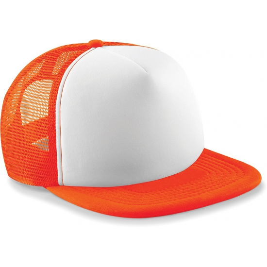 Neon oranje baseballcap