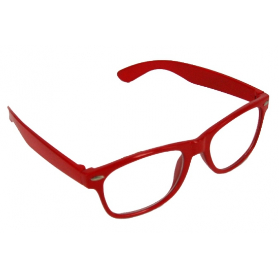 Nerd bril rood
