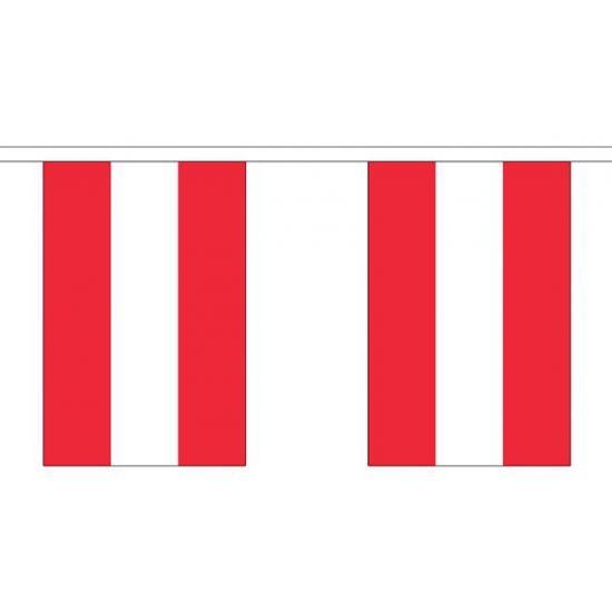Oostenrijk vlaggenlijn van stof 3 m