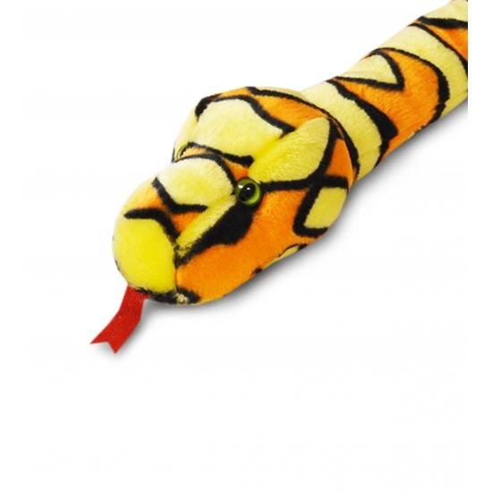 Oranje pluche slang 200 cm