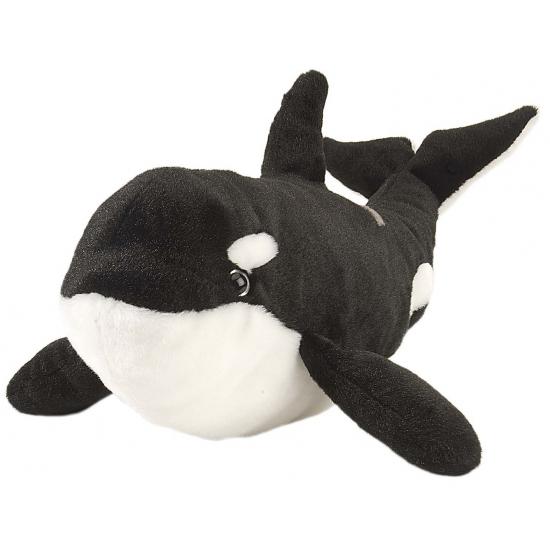 Orka knuffels zwart wit 38 cm