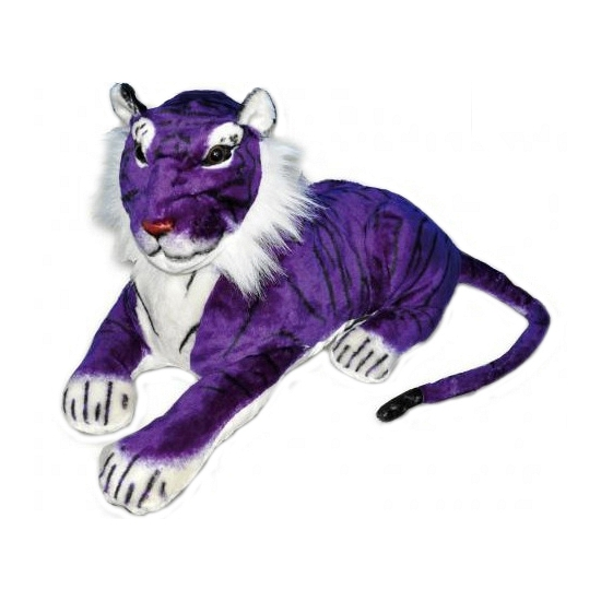 Paarse tijger van pluche 65 cm