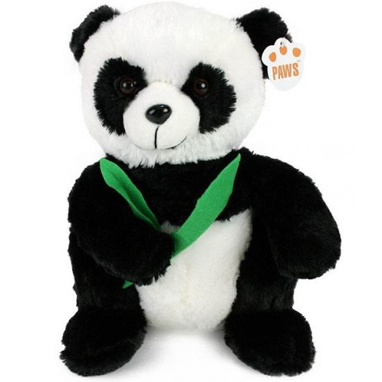 Panda beertje met bamboe 28 cm