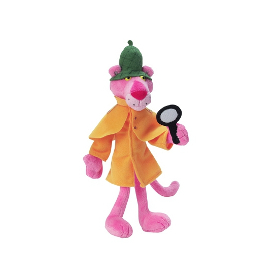 Pink Panther detective knuffel 24 cm