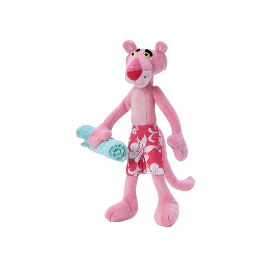 Pink Panther in zwembroek knuffel 24 cm