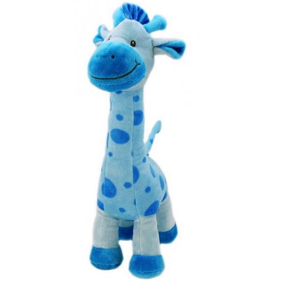Pluche baby giraffe blauw
