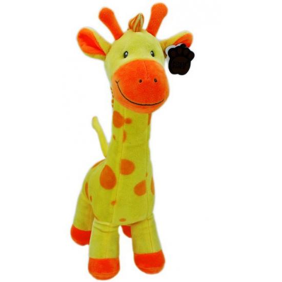 Pluche baby giraffe geel