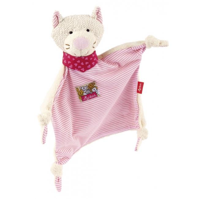 Pluche baby knuffel katje roze 26 cm