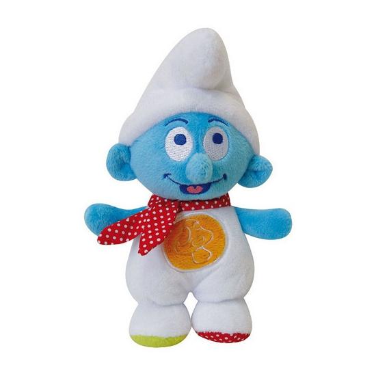 Pluche baby Smurf rammelaar 17 cm