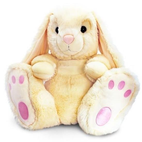 Pluche beige konijn 25 cm