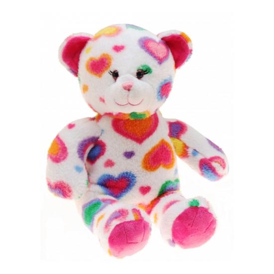 Pluche beren knuffel met hartjes 40 cm