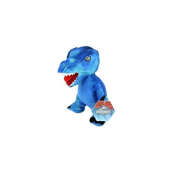 Pluche blauwe dinosaurus knuffel 23 cm