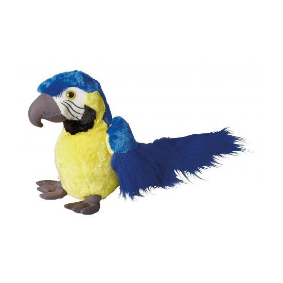 Pluche blauwe papegaai 30 cm