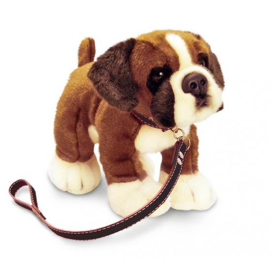 Pluche Boxer hond aan lijn