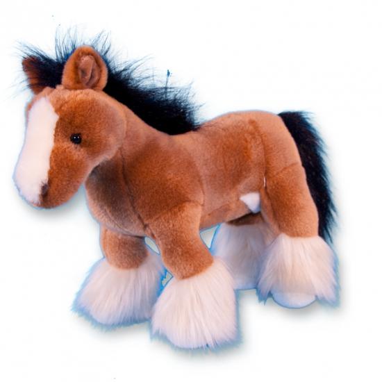 Pluche bruin paard 30 cm