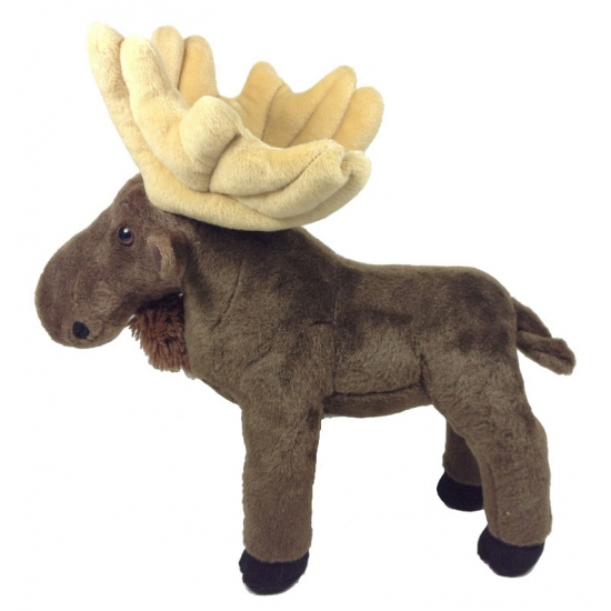 Pluche bruine eland knuffel 30 cm