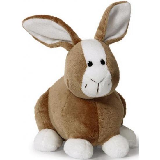 Pluche bruine konijnen knuffel 16 cm