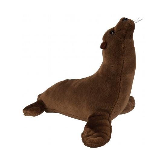 Pluche bruine zeeleeuw 23 cm